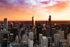 Day is ending (ingbalfaro) Tags: 360chicago street usa goldenhour skyscrapper chicago hancock