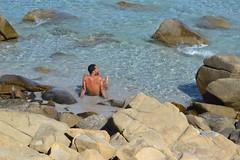Villasimius (Franco Coluzzi) Tags: sea seaside villasimius sardegna sardinia beach spiaggia mare guy man uomo ragazzo