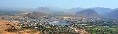 India - Rajasthan - Pushkar - View Over City & Lake - 191b (asienman) Tags: india rajasthan pushkar overview asienmanphotography