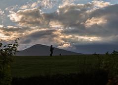 The photographer at sunset (cricketlover18) Tags: cumbria derwentwater keswick lakedistrict sunset