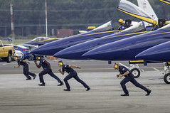 Precision - The Blue Angels in Baltimore (crabsandbeer (Kevin Moore)) Tags: aircraft airplane aviation blueangels eagle fast fleetweek martinstateairport military navy people speed precision groundcrew navalaviators run running jets pilot