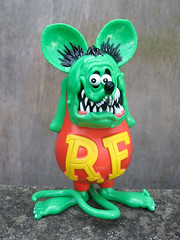 Rat Fink (The Moog Image Dump) Tags: moon green japan roth daddy ed japanese design big eyes rat little dune knuckle version figure chop fink kaiju kustom mooneyes kulture sofubi