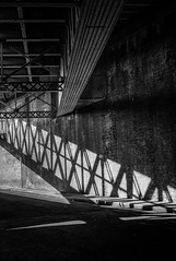 Geometry under the railway bridge (ebenette) Tags: leica blackandwhite london photography m8 summilux35mmasph