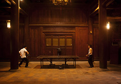 Hanoi, Vietnam - Students playing tennis table in the Temple of Literature. (*_Carlo_*) Tags: travel people table asian temple asia place farmers religion north literature vietnam tennis sacred hanoi