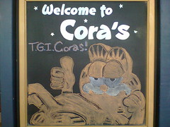 Garfield chalk drawing (Penny Media Productions) Tags: victoria garfield lasagna chalkdrawing jimdavis coras ilovemondays