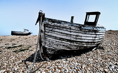 Beached Boats - Explored (Sean Batten) Tags: uk england sky beach boat kent nikon unitedkingdom decay pebbles rope dungeness d800 1424 shepwaydistrict
