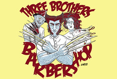 Three Brothers Barbershop (Lovatto Ilustrador) Tags: street ohio cinema comics movie print de site do arte internet edward hora nightmare paulo marvel elm freddy artes so ilustrao mos desenho wolverine tesoura scissorhands krueger ilustrador springwood plsticas visuais impresso pesadelo a lovatto screensvrs