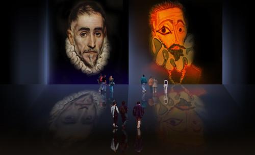 """Hidalgo Ibérico, expresión de Doménikus Theokópoulos el Greco (1597), transcripción de Pablo Picasso (1971). • <a style=""""font-size:0.8em;"""" href=""""http://www.flickr.com/photos/30735181@N00/8746814501/"""" target=""""_blank"""">View on Flickr</a>"""