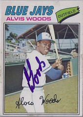 "1977 O-Pee-Chee - Alvis ""Al"" Woods #256 (Jays 8th pick in the 1976 expansion draft) - Autographed Baseball Card (WhiteRockPier) Tags: baseball card signed autographed torontobluejays opc opeechee"