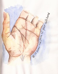 #18 Draw the palm of your left hand (sarabeee) Tags: