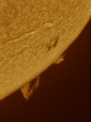 Prominance HA 18-05-2013 (chris_swatton) Tags: orange sun colour yellow ball star solar scope space spot mount spots single flare alpha sunspot 15mm flares tha filaments hydrogen g8 eyepiece lunt sunspots prominences plages losmandy gm8 solarscope granulation faculae ls60 14022011 ls60tha