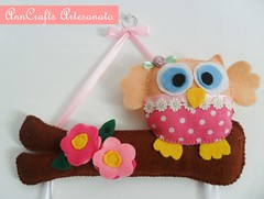 Enfeite de Porta Carolina e Beatriz IV (AnnCrafts Artesanato) Tags: flowers girls flores fabric owl coruja feltro decorao ovelha enfeiteporta bonecasfeltro acessriosquartodebeb acessriosdebeb