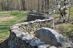 Curvy Stone Wall (Joe Shlabotnik) Tags: sculpture art stone wall stormking andygoldsworthy 2013 april2013