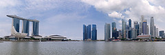 Marina Bay Sands + Singapore Skyline (Noor Hazmee) Tags: city cruise panorama skyline river singapore day bluesky center cbd finance maybank 2013 marinabaysands