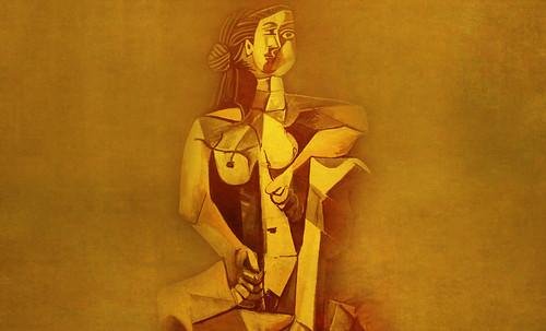 "Mujer Sentada, geometrización de Pablo Picasso (1953), abstracción de Roberto Real de León (2013). • <a style=""font-size:0.8em;"" href=""http://www.flickr.com/photos/30735181@N00/8815893028/"" target=""_blank"">View on Flickr</a>"