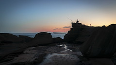 Fishing at Soldiers (Beck Dunn Photography) Tags: ocean sunset sea people beach landscape coastal nsw centralcoast shillouette soldiersbeach