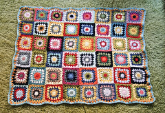 the finished blanket (mialiv) Tags: crochet yarn blanket colourful crocheting grannysquares