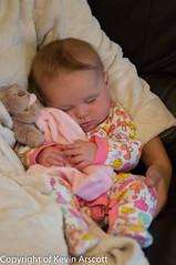 Eva May, snoozing