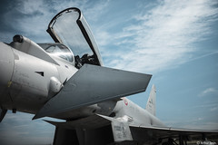 Eurofighter! (Arthur Janin.) Tags: leica sl typ 601 summilux m 35 mm 35mm f14 asph fle euro fighter plane aircraft fighting chasseur italy italia blue sky cloud porn pointu typhoon eurofighter air force