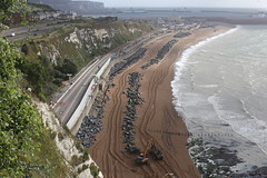 The ongoing repairs to the sea wall at Shakespeare Cliff, Dover (Jelltex) Tags: seawall shakespearebeach dover orangearmy jelltex jelltecks