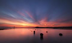 (Ian McClure) Tags: irvine ayrshire scotland sunset pentax posts long exposure