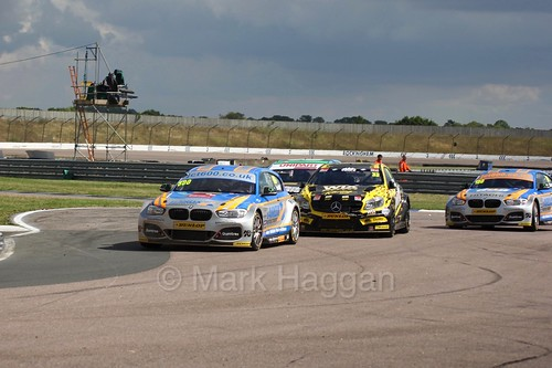 Sam Tordoff, Adam Morgan, Rob Collard and Tom Ingram at Rockingham, August 2016