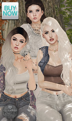 Glamrus . Chickitas AD (Glamrus) Tags: buynow september poses slpose glamrus new group friends family adorable cute girls chicks secondlife second life explore outdoors fall little bones addams luxe