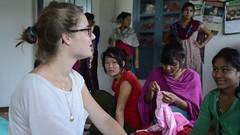 Show & Tell (www.WeAreHum.org) Tags: textile nepal thread bobbins gandhi tulsi ashram school for women kathmandu sowing weaving winds threads mechanical loom wood shuttles feet arts