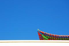 untitled  (ulaan baatar, mongolia) (bloodybee) Tags: gandantegchinlen monastery ulaanbaatar mongolia asia buddhism religion roof minimal minimalism sky blue red white travel 365project