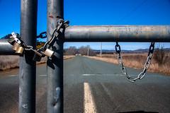 no through road (Daedalus-) Tags: padlock gate chain metal road unused locked lock locks