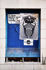 Paste Up, Bordesley Street, Digbeth (dotcomjohnny) Tags: graffiti digbeth brum birmingham dotcomjohnny sticker art
