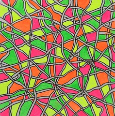 Neon Tangle (ElDel777) Tags: neon eighties doodle tangle zentangle abstract colourful abstractart penandink