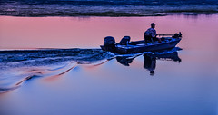 The soft, first colors of dawn.... (tomk630) Tags: virginia dawn colors boat nature usa