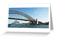 Fathers Day Card (sunnypicsoz.com-Geoff Childs.) Tags: fathersday fathersdaycard greeting message sydney sydneyharbour bridge boat boating australia