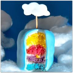 "mini cupcake ""rainbow"" (www.nathalie-chatelain-images.ch) Tags: macromondays sweetspotsquared mini cupcake rainbow colors blue white red yellow purple clouds macro nikon"