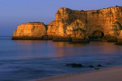 Serene sea (Kari Siren) Tags: sea coast rock light beach ocean algarve portugal