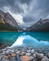 Lake Louise, Banff NP (Ms Stacy) Tags: banffnationalpark mountains mountain clouds lake blue glacial canada water rocky