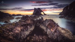 Terrestrial Dawn (Augmented Reality Images (Getty Contributor)) Tags: bowfiddlerock canon dawn hdr landscape leefilters light longexposure morayshire portknockie rocks scotland seascape sunrise water waves