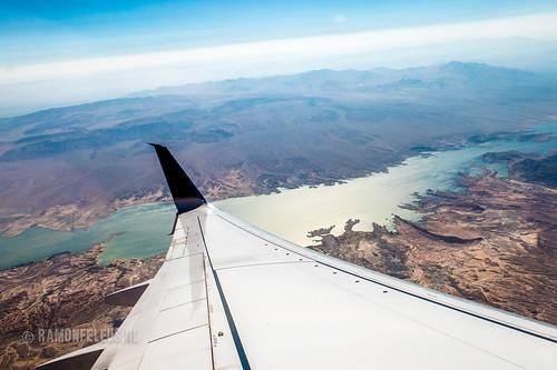Flying over Lake Powell