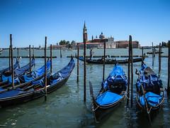 Venice, Italy (Justgetdancey) Tags: venice italy boats gondola giorgio maggiore giorgiomaggiore sangiorgiomaggiore island sea islandofsangiorgiomaggiore europe gondolas venetian venezia
