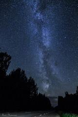 Road under the stardust (Suvi Heinonen) Tags: milkyway estonia road stardust night stars