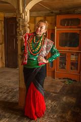 Traditional Thakali Dress (Stewart Miller Photography) Tags: thakali traditional dress larjung nepal