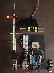 UNO does PWM - 16mm scale (wcrpaul) Tags: arduino uno signal modelrailway modelrailroad signalcontrol pointscontrol turnoutcontrol servo remotecommander 16mm 16mmscale led controller microcontroller pwm pulsewidthmodulation analogueinput switch pushbutton momentary modeltrain modeltrains electronics servocontrol 16mmscalenarrowgauge modelrailwayelectronics vero veroboard resistor paulbackhouse cybershot sonycybershot dscf717 homesignal resistorpair pluggableconnector terminalblock emax stripboard