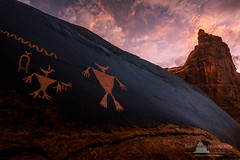 Heroic Ages (www.fourcorners.photography) Tags: petroglyphs utah bearearsnationalmonument cedarmesa redrock sunrise pinksky southwest peterboehringerphotography fourcornersphotography