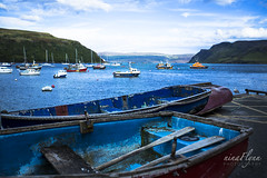 Feeling blues (ninaflynnphotography) Tags: bluewater scenicview lonelyplanet nature boats isleofskye scotland waterscape landscape panorama panoramic photography water skye portree ninaflynnphotography ninaflynn2016 canoneos5dmarkiii canonef1635mmf28liiusm travel transportation