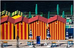 stripes (kurtwolf303) Tags: beach strand kabinen cabins stripes streifen sorrento italy italien italia olympusem1 microfourthirds micro43 systemcamera colorful farbig bunt topf25 250v10f unlimitedphotos umkleidekabinen sonnenschirme topf50 500v20f topf75 900views topf100 1000v40f