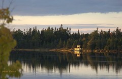 Calm evening at Cobb's Pond (Sandra Y Moss) Tags: pond evening sunset calm newfoundland gander cobbspond