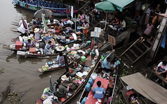 March flottant de Damnoen Saduak (Thomas dudou) Tags: travel thailand damnoen saduak floating market