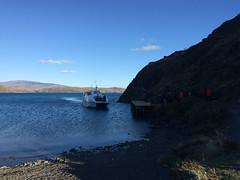 """Torres del Paine: trek du W. Jour 5: le catamaran pour rejoindre le bus qui nous ramènera à Puerto Natales. <a style=""""margin-left:10px; font-size:0.8em;"""" href=""""http://www.flickr.com/photos/127723101@N04/29635927244/"""" target=""""_blank"""">@flickr</a>"""