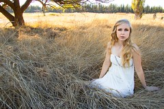 Emily (austinspace) Tags: woman portrait spokane washington model slavin conservation area park blond blonde lipstick maiden fairy tale princess flower dress